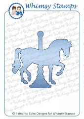 Whimsy Stamps - Carousel Horse Die - Shapeology Dies