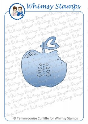 Whimsy Stamps - Apple a Day Tag Die - Shapeology Dies