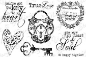 * Whimsy Stamps - Key to My Heart - Sentiments Collection