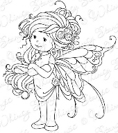 Whimsy Stamps - Wee Stamps - Summer Fairy - Wee Stamps