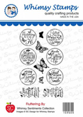 ###Whimsy Stamps - Fluttering By - SC Design Collection