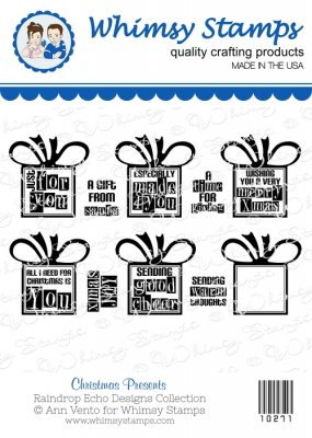 *** Whimsy Stamps - Christmas Presents - Sentiments Collection