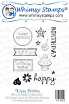 *WS* Whimsy Stamps - Happy Birthday Stamp Set - Sentiments Collection