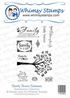 ###Whimsy Stamps - Family Forever Stamp Set - Sentiments Collection