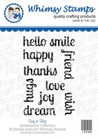 ###Whimsy Stamps - Say it Big - Sentiments Collection