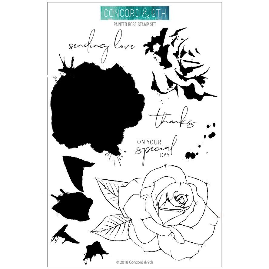 *NEW* - Concord & 9th - Painted Rose Stamp