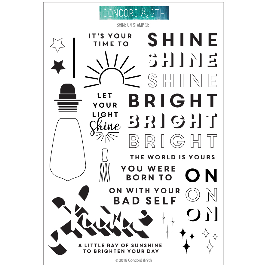 *NEW* - Concord & 9th - Shine On stamps