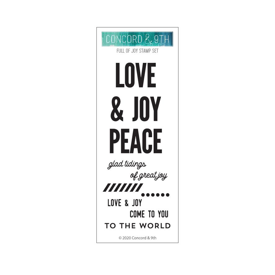 *NEW* - Concord & 9th - FULL OF JOY STAMP SET