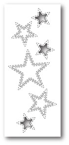 ###Poppystamps - Stitched Star Cutouts