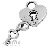 Lock with Heart Charm
