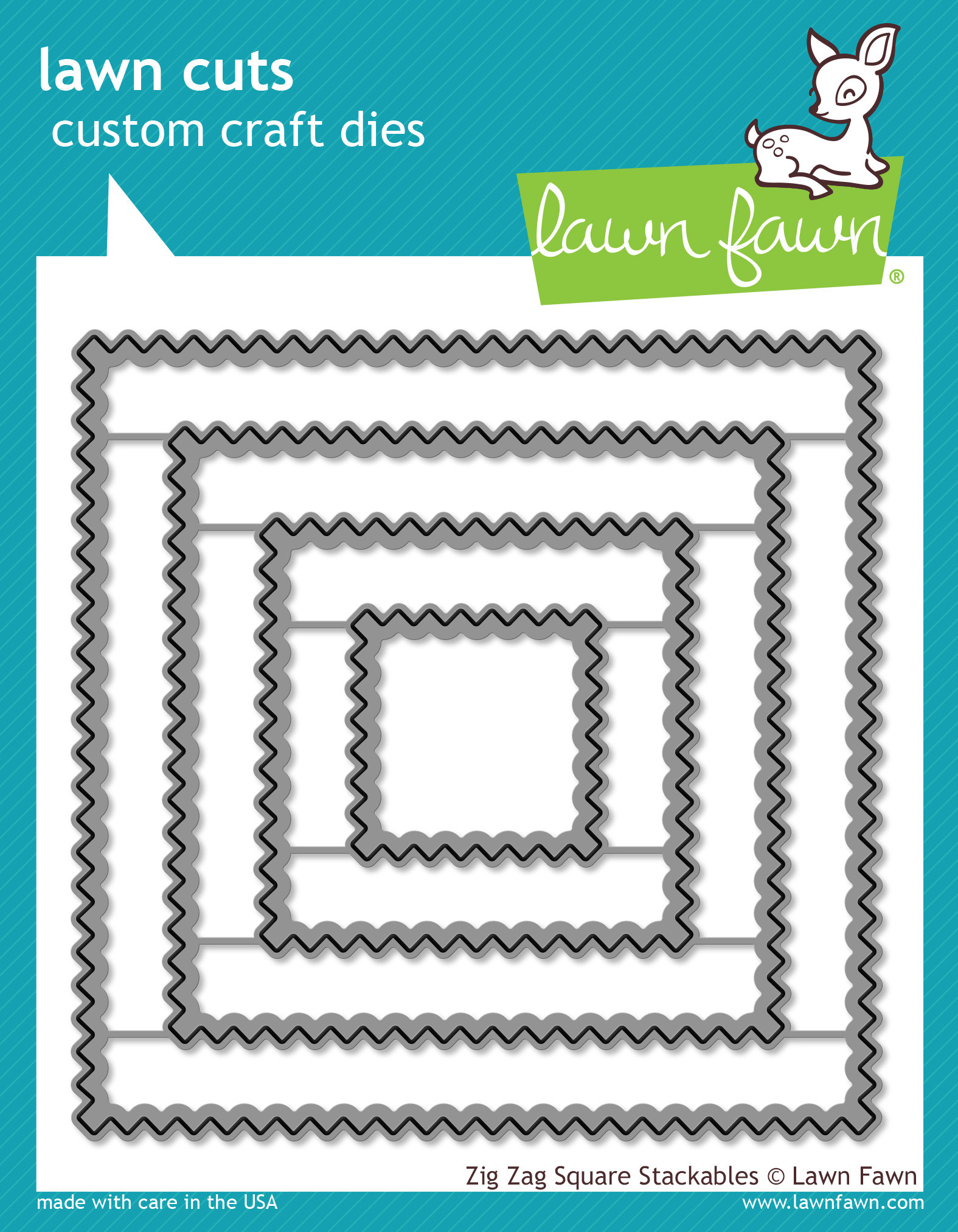 *NEW* - Lawn Fawn - Lawn Cuts - Zig Zag Square Stackables