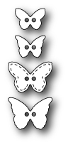 Poppystamps - Butterfly Buttons