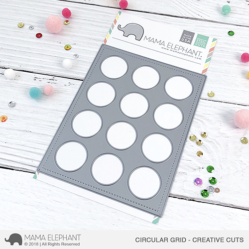 *NEW* - Mama Elephant - Circular Grid - Creative Cuts