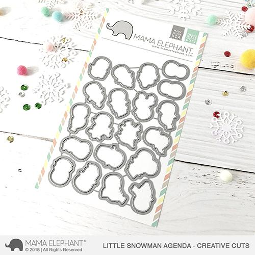 Mama Elephant - Little Snowman Agenda - Creative Cuts