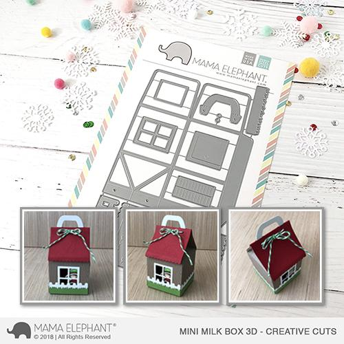 Mama Elephant - Mini Milk Box 3D - Creative Cuts
