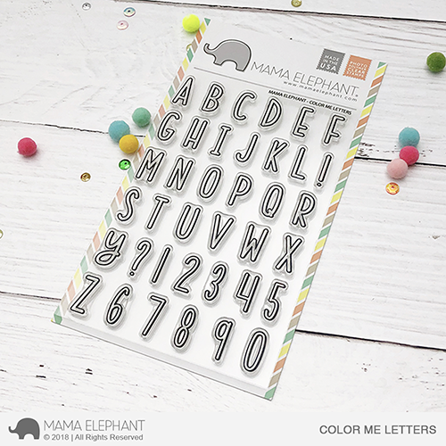 Mama Elephant - COLOR ME LETTERS