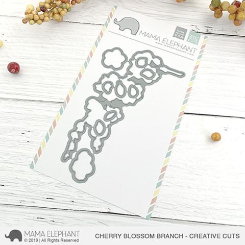 Mama Elephant - Cherry Blossom Branch Creative Cuts