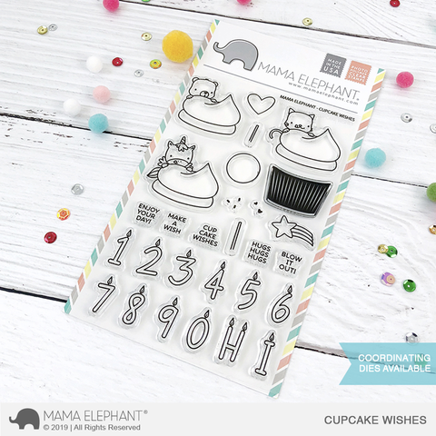 *NEW* - Mama Elephant - CUPCAKE WISHES