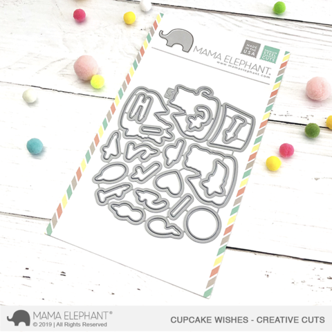 *NEW* - Mama Elephant - Cupcake Wishes - Creative Cuts