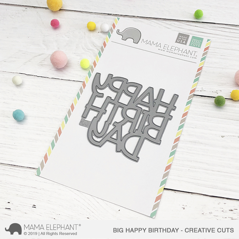 *NEW* - Mama Elephant - Big Happy Birthday - Creative Cuts
