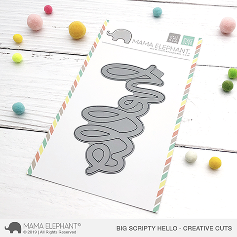 Mama Elephant - Big Scripty Hello - Creative Cuts
