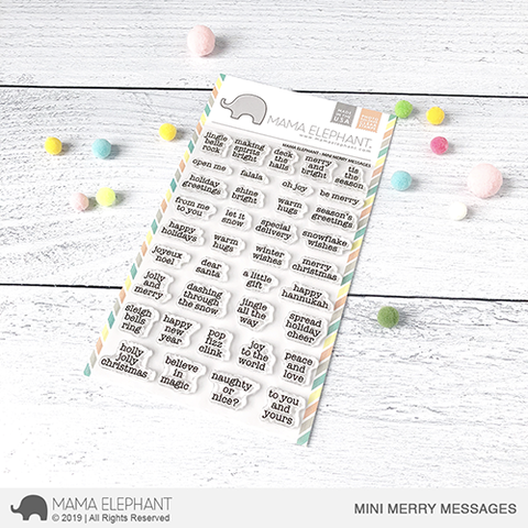 *NEW* - Mama Elephant - MINI MERRY MESSAGES