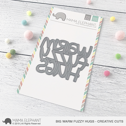 Mama Elephant - Big Warm Fuzzy Hugs - Creative Cuts