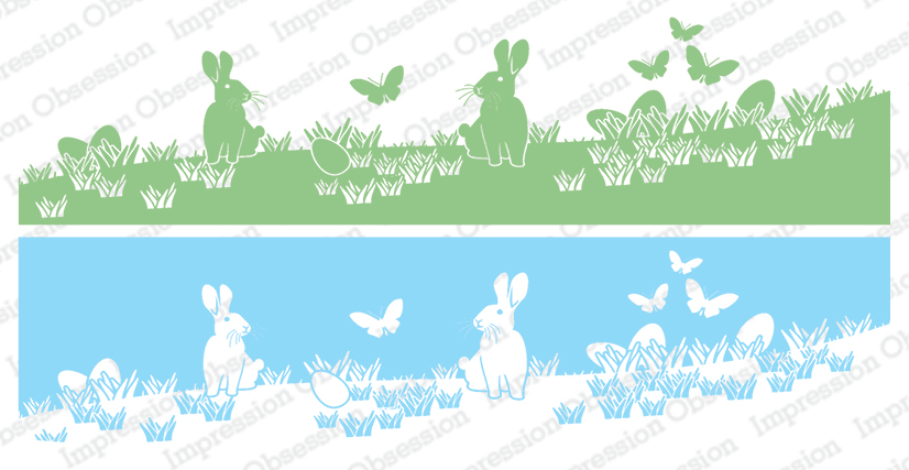 *NEW* - Impression Obsession - Bunnies in Grass