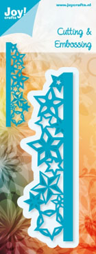 Joy! Crafts -  Cutting & Embossing Stencil - Edge with Stars