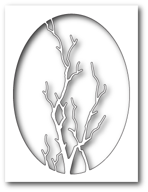 * XMAS *Memory Box - Graceful Branch Oval