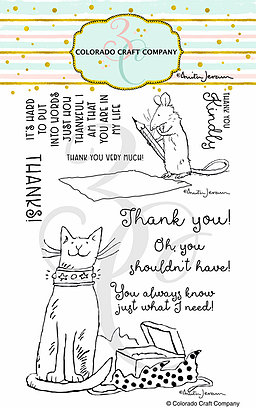 Colorado Craft Company - Anita Jeram~Thank You Kindly Stamps