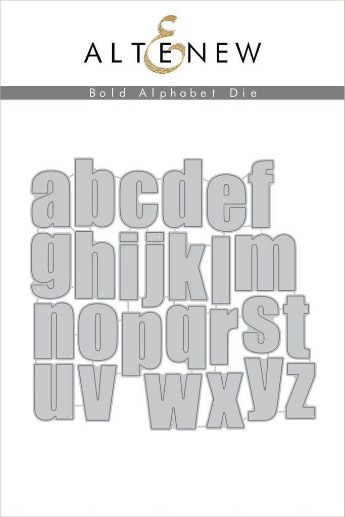 Altenew - Bold Alphabet Die Set