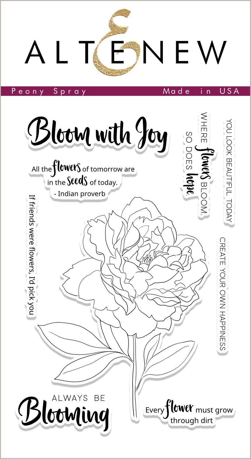 *NEW* - Altenew - Peony Spray Stamp Set