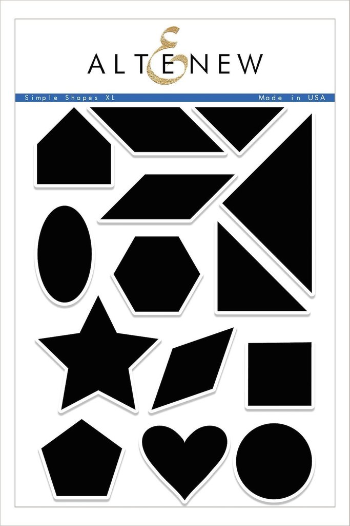 *NEW* - Altenew - Simple Shapes XL Stamp Set