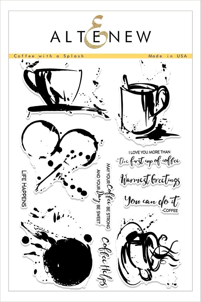 *NEW* - Altenew - Coffee with a Splash Stamp Set
