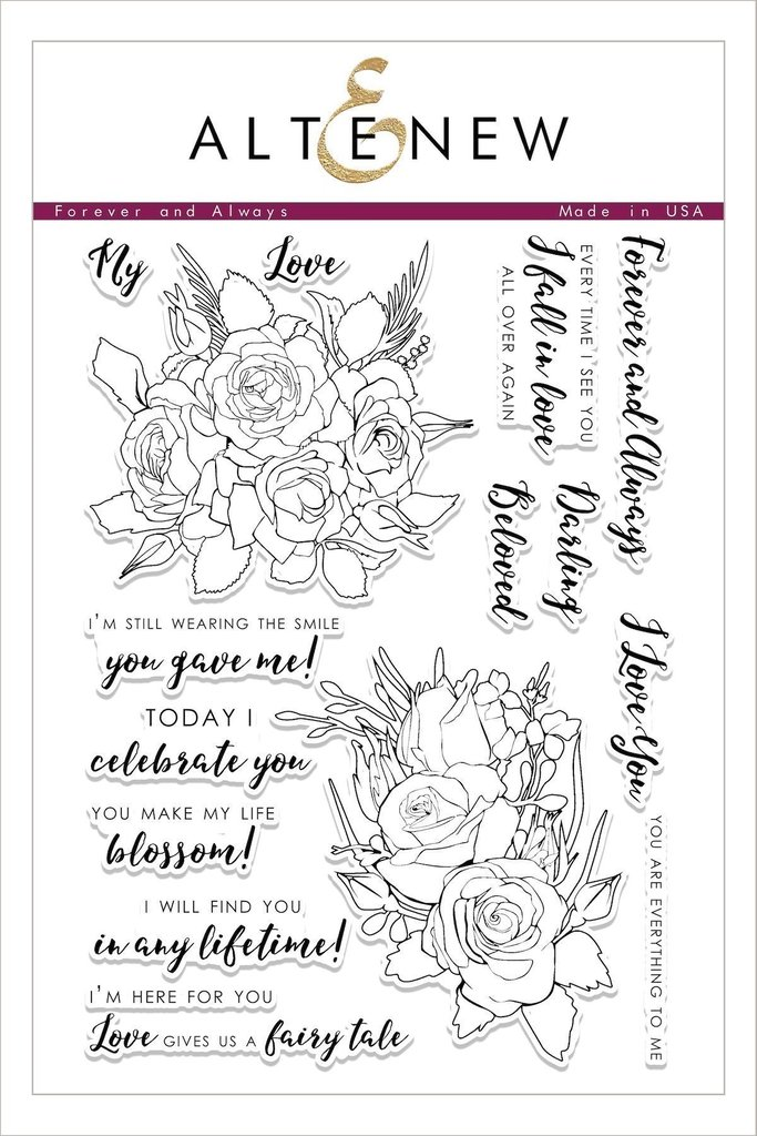 *PRE-ORDER* - Altenew - Forever and Always Stamp Set
