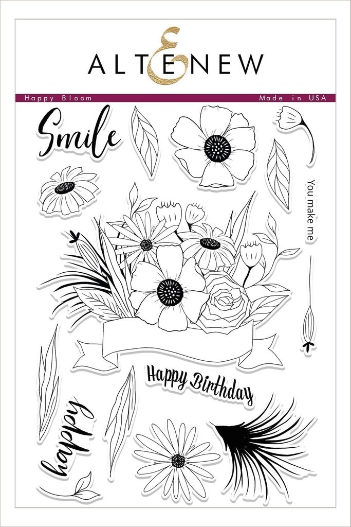 *PRE-ORDER* - Altenew - Happy Bloom Stamp Set