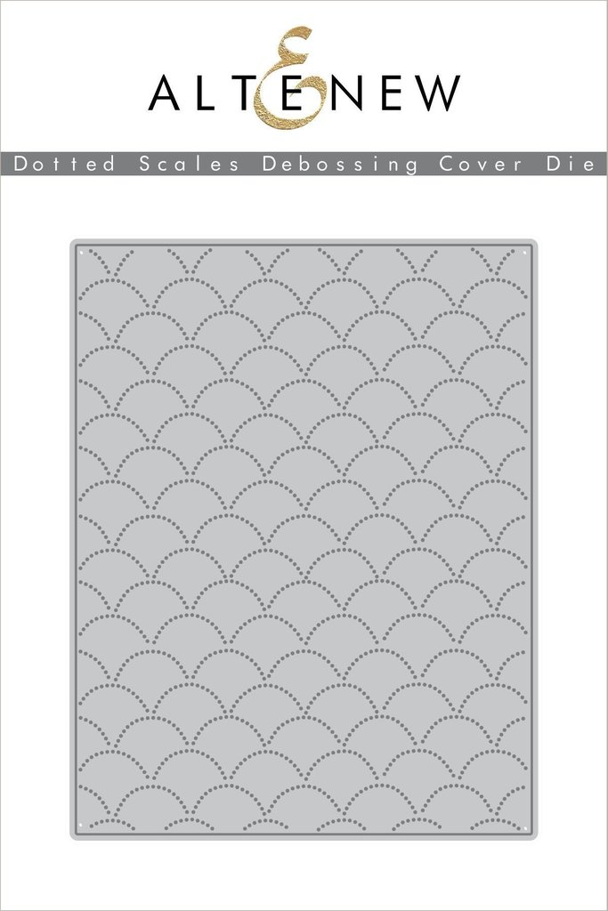 Altenew - Dotted Scales Debossing Cover Die