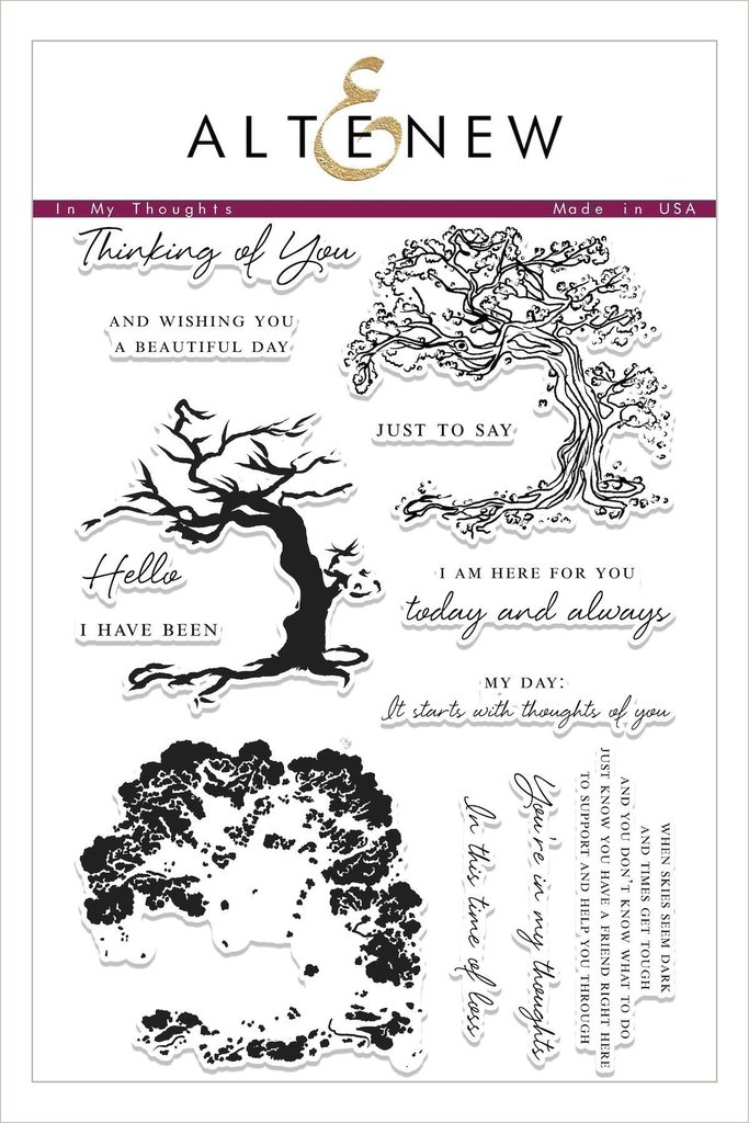 *NEW* - Altenew - In My Thoughts Stamp Set