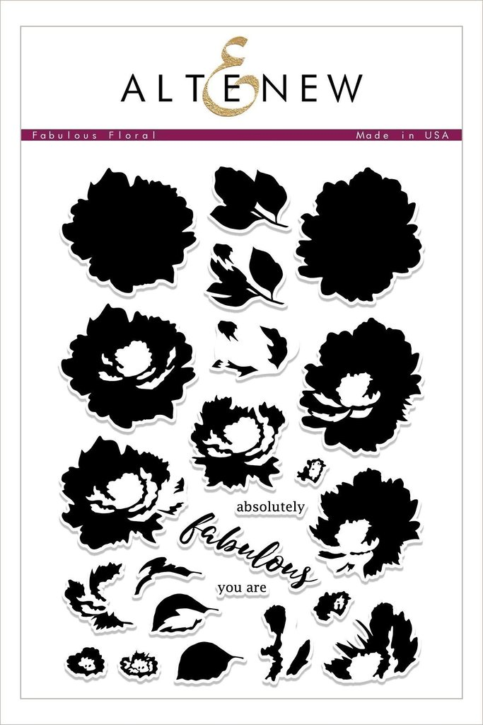 *NEW* - Altenew - Fabulous Floral Stamp Set