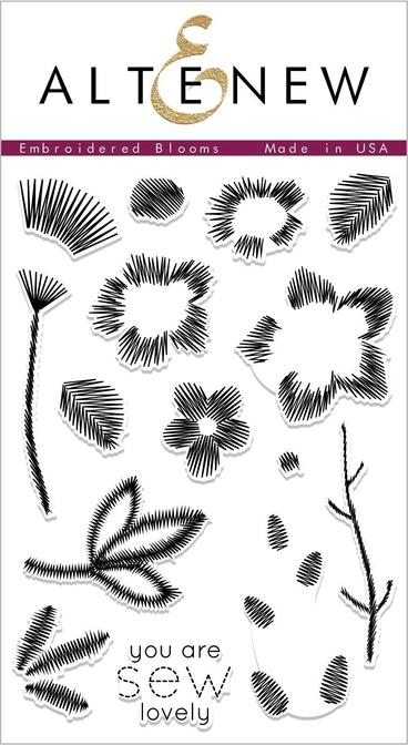 *NEW* - Altenew - Embroidered Blooms Stamp Set