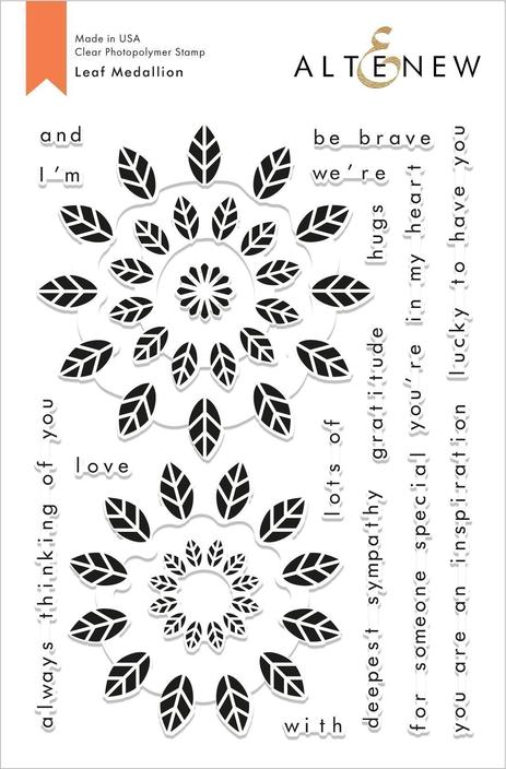 *NEW* - Altenew - Leaf Medallion Stamp Set