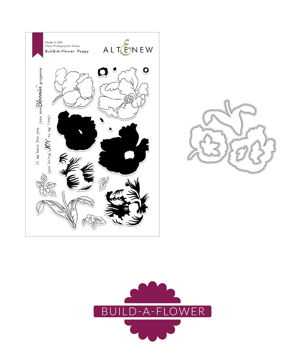 *NEW* - Altenew - Build-A-Flower: Poppy