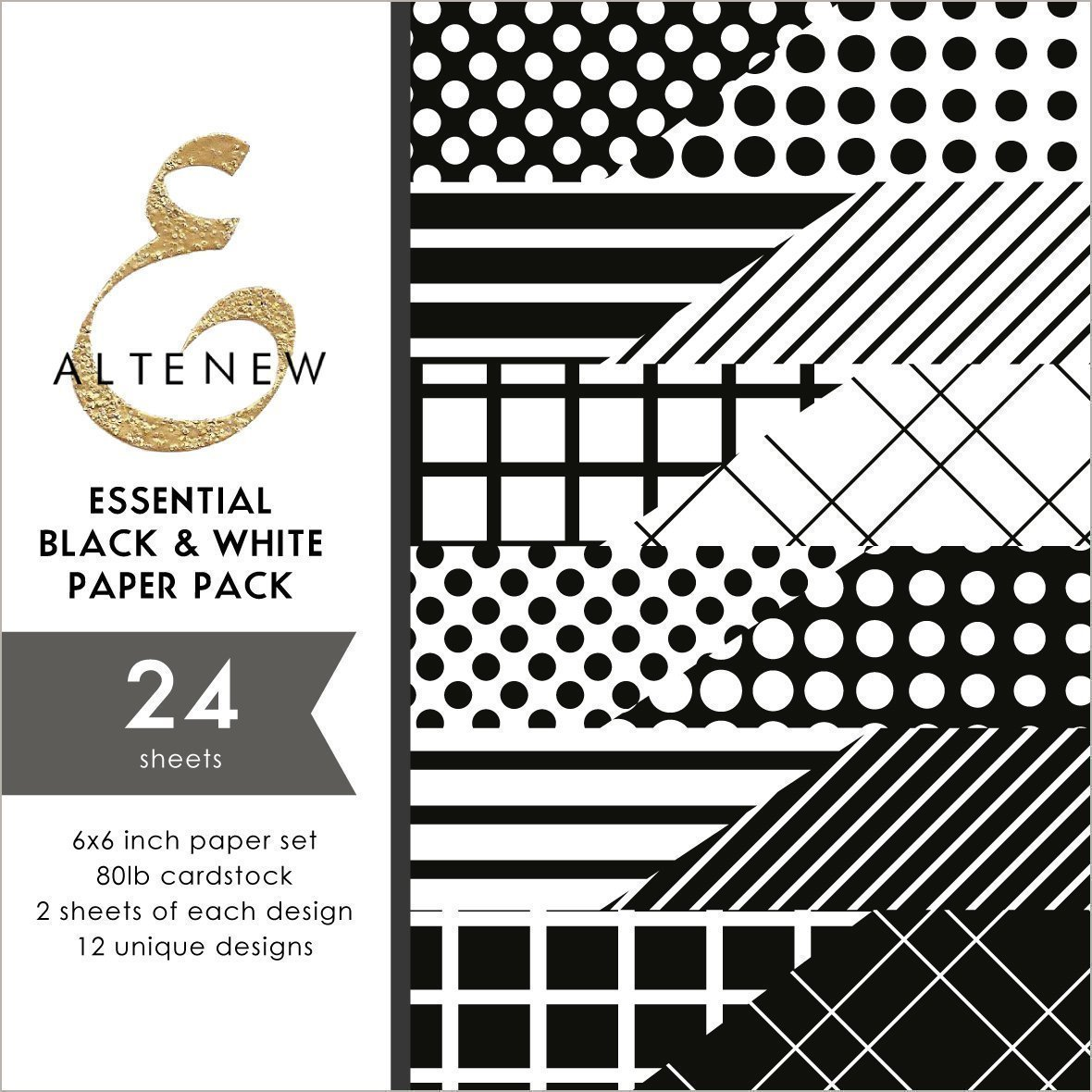 *NEW* - Altenew - Essential Black & White 6x6 Paper Pack