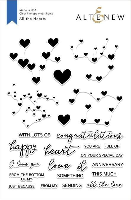 *NEW* - Altenew - All the Hearts Stamp Set