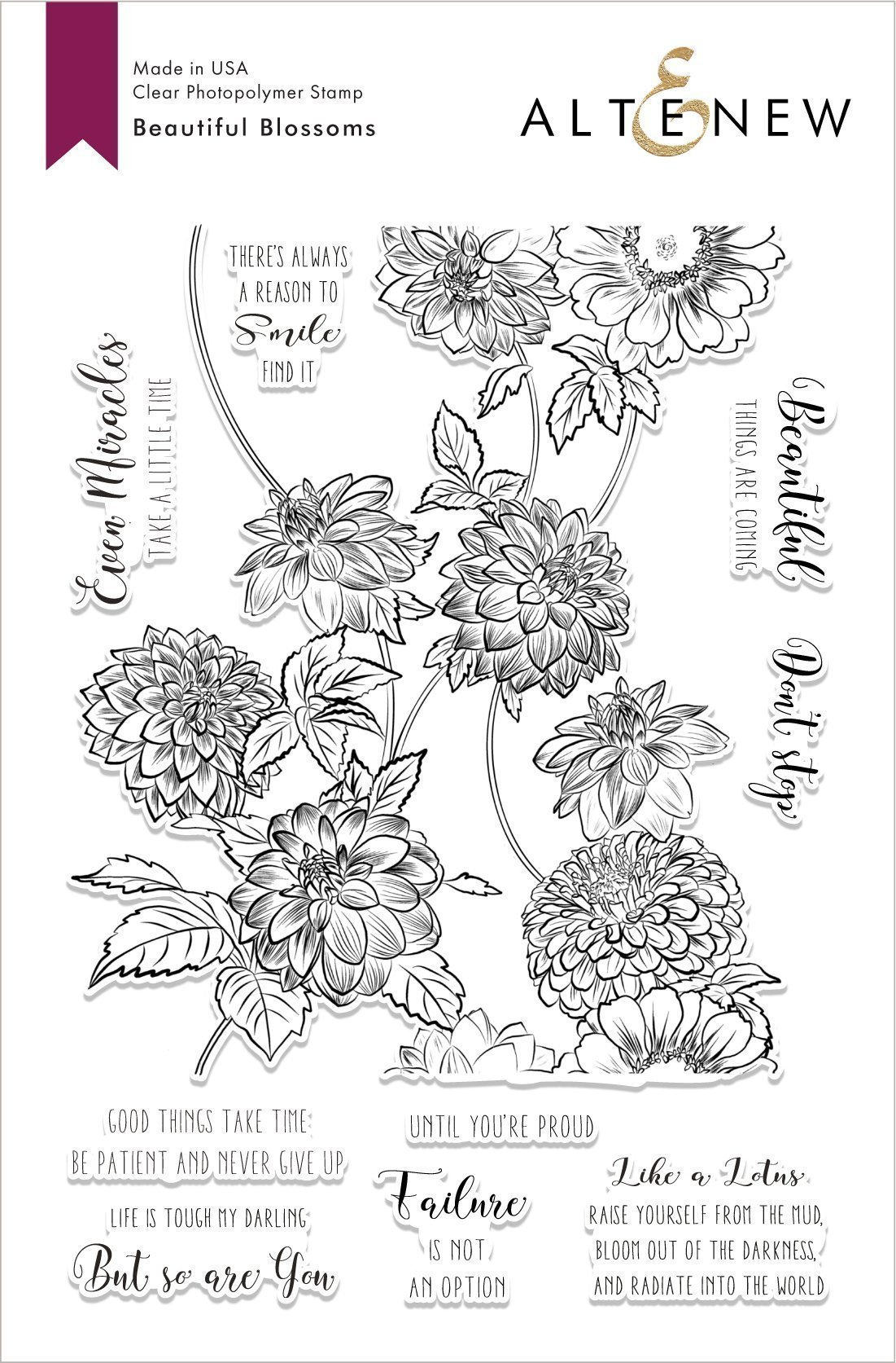 *NEW* - Altenew - Beautiful Blossoms Stamp Set