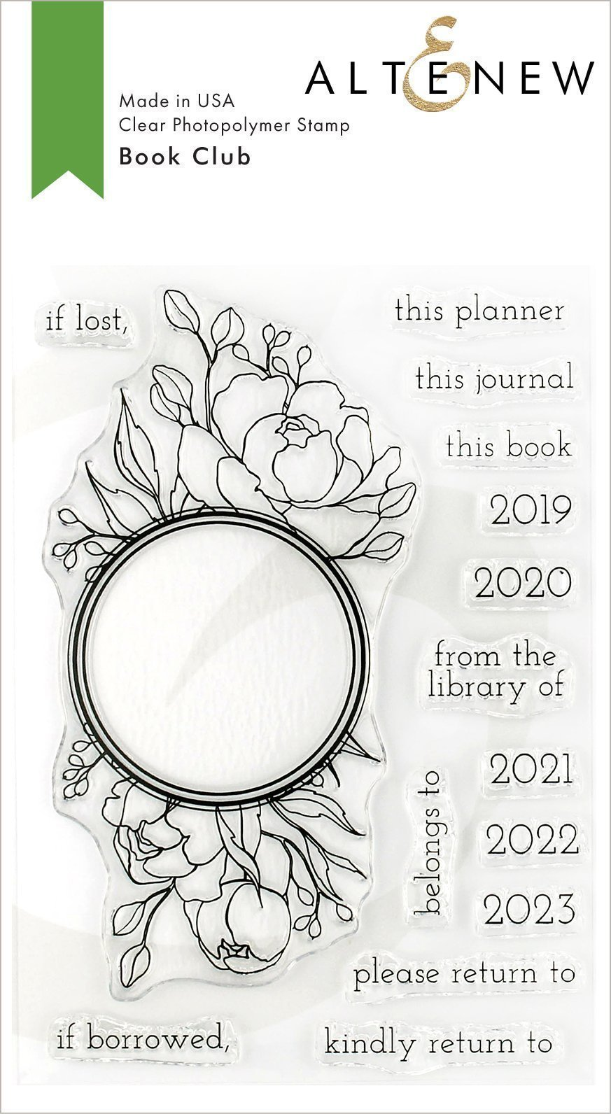 *NEW* - Altenew - Book Club Stamp Set