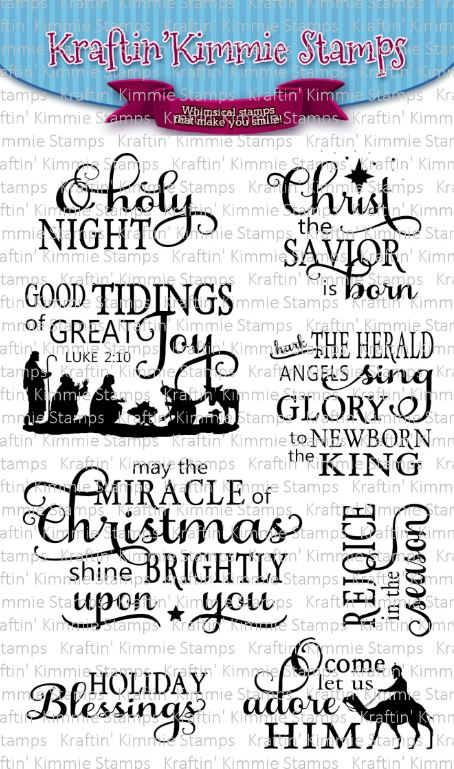 Kraftin' Kimmie Stamps- Christmas Blessings Sentiments