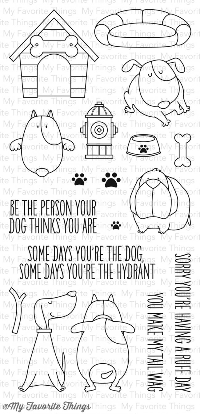 My Favorite Things - You Make My Tail Wag Stamp Set