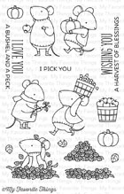 My Favorite Things - Harvest Mouse Stamp Set